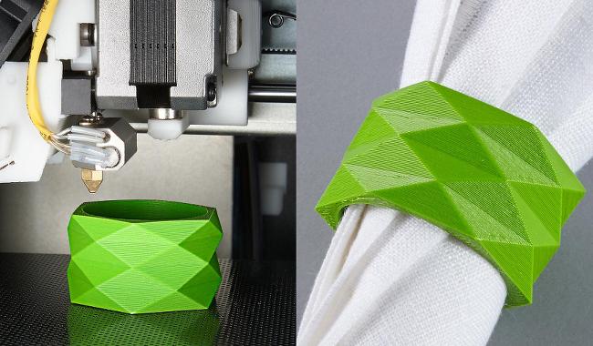 Serviettenring mit 3D Drucker drucken