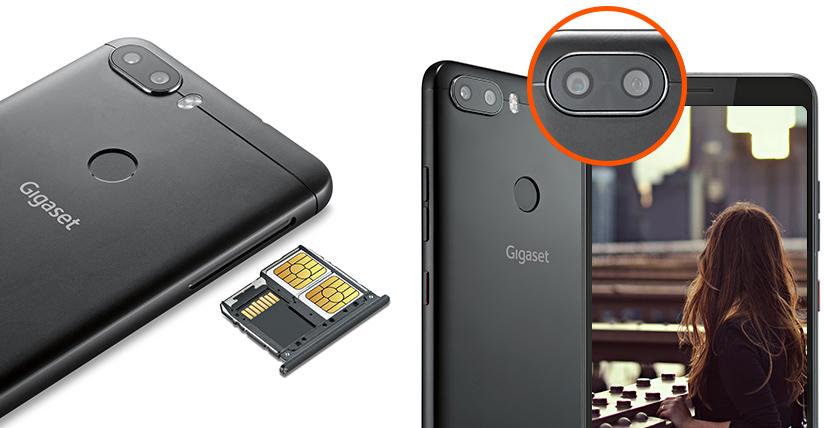 Zwei SIM-Karten und Dual-Kamera im Gigaset GS370 plus