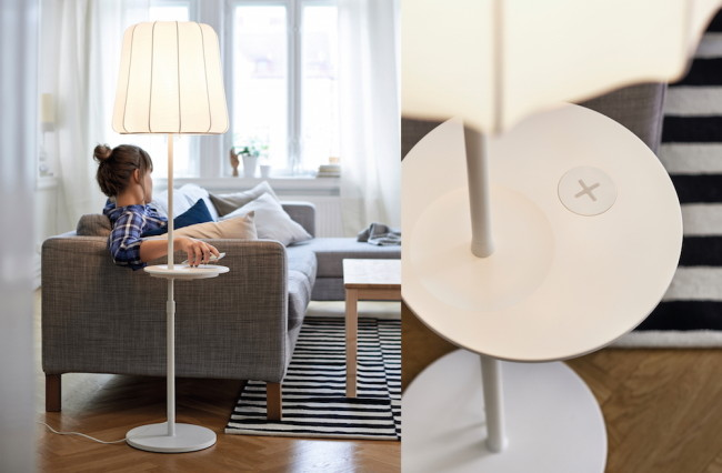 ikea pr sentiert m bel die kabellos smartphones aufladen. Black Bedroom Furniture Sets. Home Design Ideas