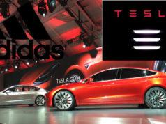Tesla Model 3 adidas Logo