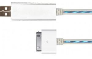 PowerFlow blue - weißes USB-Kabel für iPhone, iPad und iPod von Arktis.de