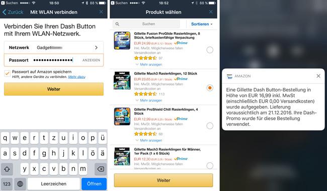 Amazon Dash für Gilette Produkte einrichten