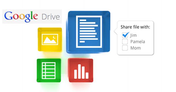 Google Drive: bietet Zusammenarbeit an gemeinsamen Dokumenten und Speicherplatz in der Wolke