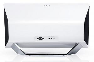 Die iTeufel Air Rückseite mit 3,5 mm Audioeingang und Stromanschluss