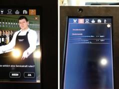 Eine Servicekraft per Touchscreen an den Tisch ordern, die endgültige Bestellung abschicken (c) dk