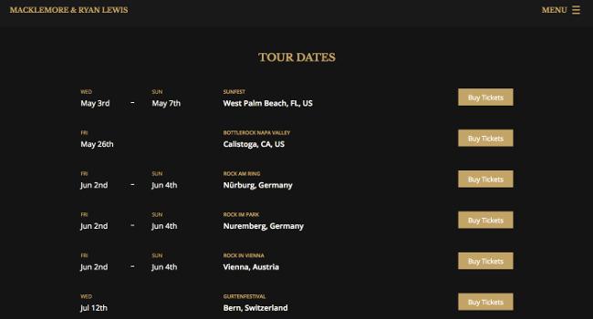 Tourdaten Macklemore Musik