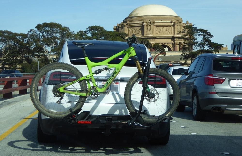 Model X with bike