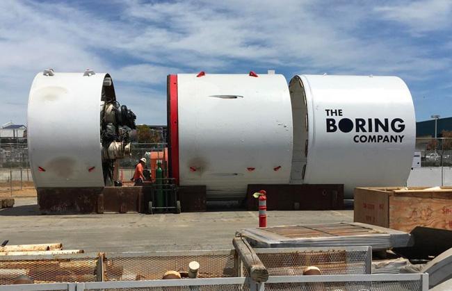 The Boring Company von Elon Musk Bohrmaschine