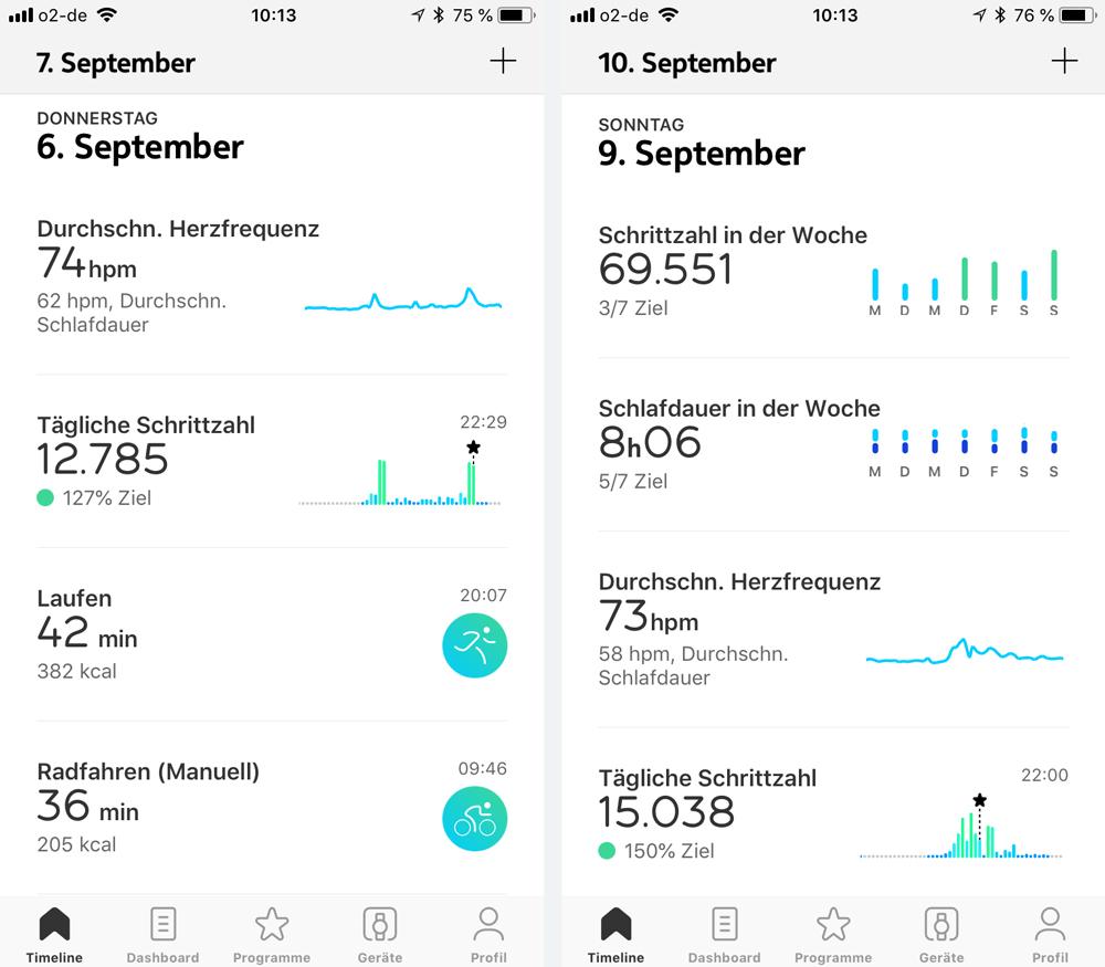 Health App für die Nokia Steel HR