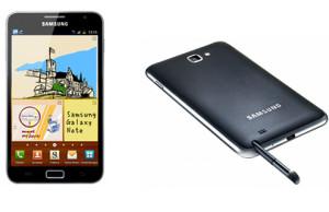 Das Galaxy Note von Samsung lässt sich auch mit einem Stylus bedienen (c) Samsung