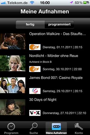 Save.TV-App auf dem iPhone