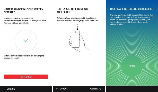 Trueplay per App einmessen - Sonos