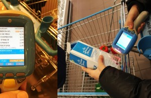 Supermarkt Albert Heijn mit Scanner