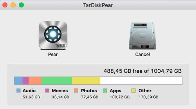 Tarsdisk Festplatte Speicherkapazität