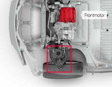Tesla Model S Vorderrad-Aufhängung