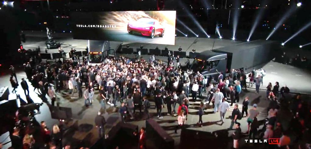 Tesla Präsentation Roadster und Semi in Hawthorne