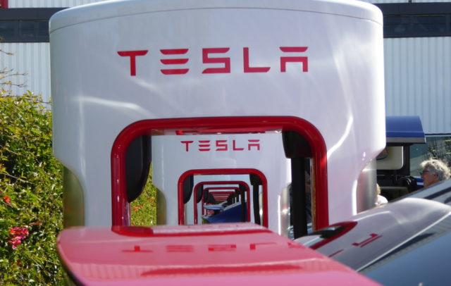 Tesla Supercharger in Fremont
