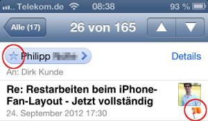 VIP Mail iOS 6