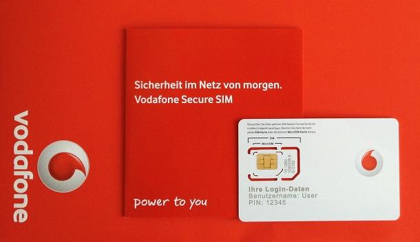 Die Secure SIM von Vodafone (c) dk