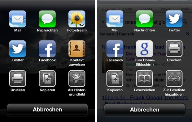 Weiterleitung iOS 6