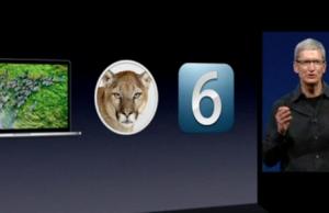 Tim Cook eröffnete und beendete die Präsentation zur WWDC 2012 (c) Apple
