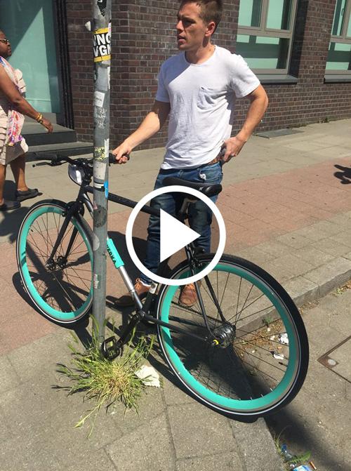 Video Vorführung Yerka Fahrrad Schloss